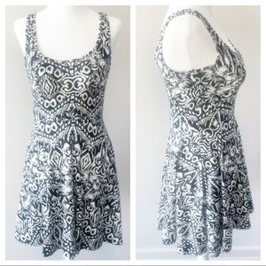 Aeropostale Black and white fit and flare dress